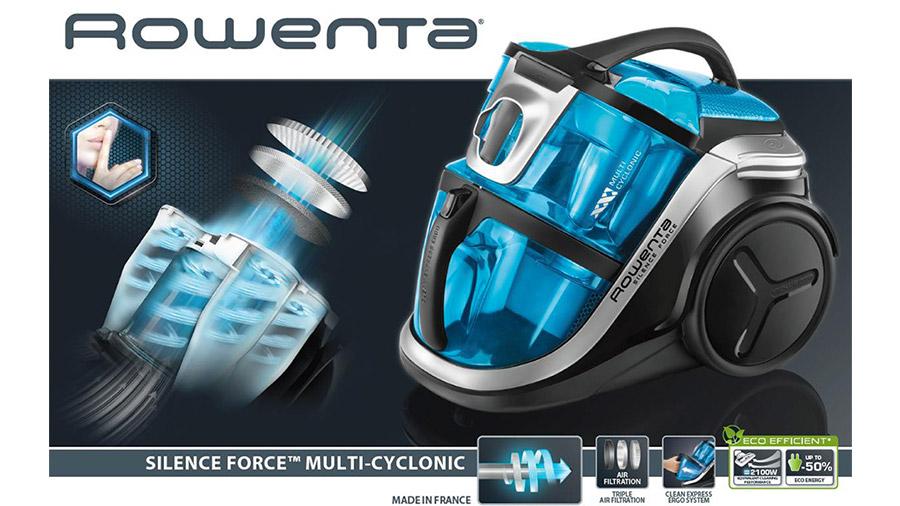 rowenta silence force multi cyclonic la puissance d 39 un aspirateur 4a sans bruit aspirateur. Black Bedroom Furniture Sets. Home Design Ideas