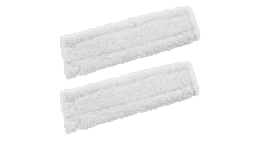 Lot de 2 lingettes microfibres pour nettoyeur de vitre Karcher pas cher