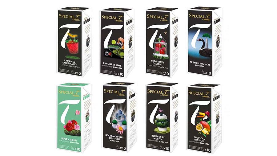 Assortiment de capsules pour machine à thé Nestlé Special T pas cher