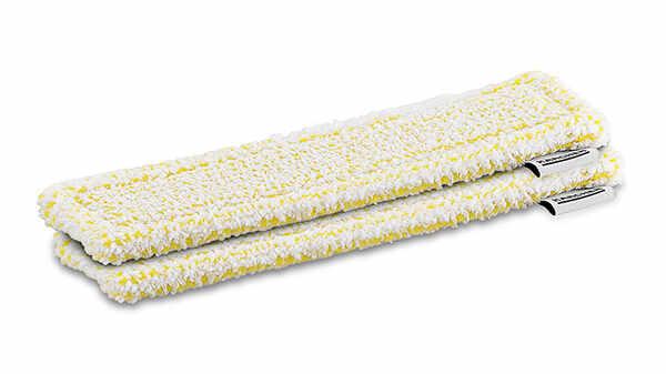 Chiffons microfibres velcro jaune pour nettoyeur de vitre Karcher pas cher