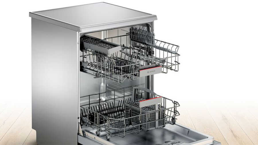 Lave-vaisselle pose-libre 60 cm Inox SMS46JI19E BOSCH