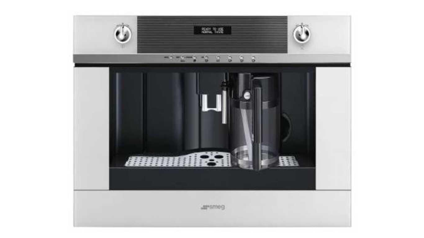 Machine à café encastrable cms4101b verré blanc de SMEG