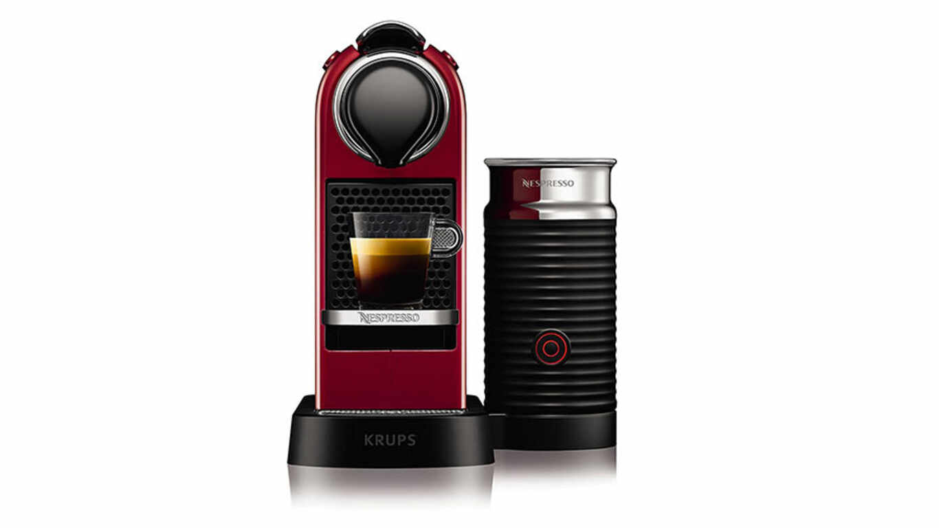 Machine à café Nespresso Krups Citiz & Milk rouge cerise pas cher